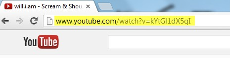 Copy URL Youtube