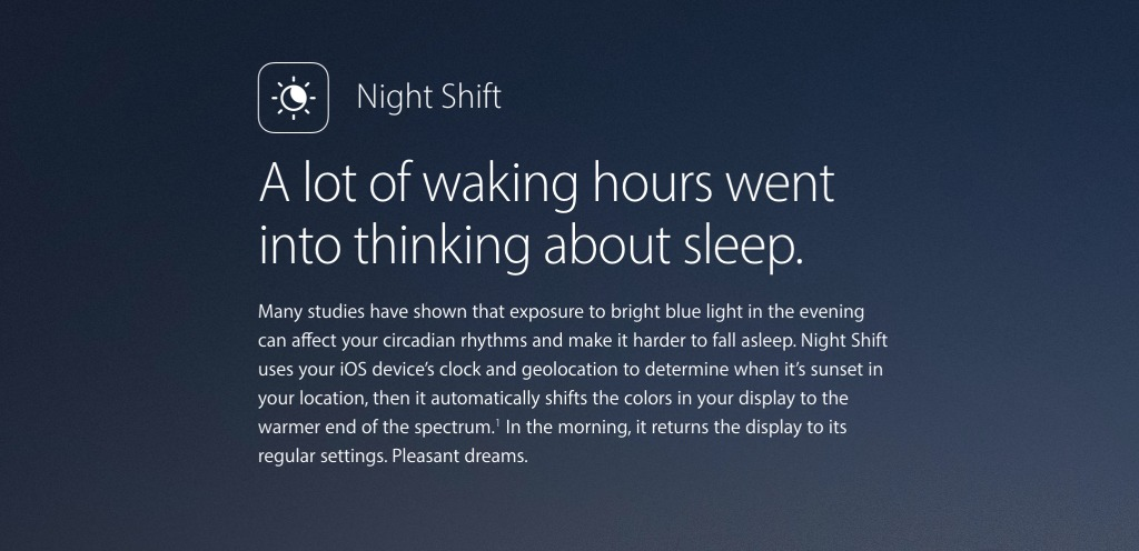 Night Shift Apple